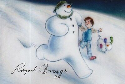 Raymond Briggs Hand Signed 6X4 Photo The Snowman 2.