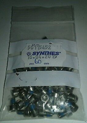 Qty 60 - Synthes 50115452, Set Screws, New, Free Shipping