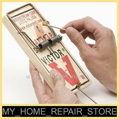 """$8 !  Free S&h !  1 Large  3-1/4 X 7""""  Victor M201 Snap Spring Reusable Rat Trap"""