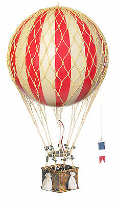 AUTHENTIC MODELS Royal Aero True Red Hanging Hot Air Balloon 32 cm