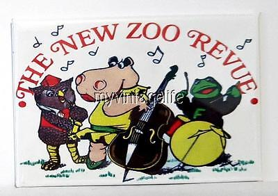 "THE NEW ZOO REVIEW  Fridge MAGNET  2"" x 3"" art NOSTALGIC VINTAGE"