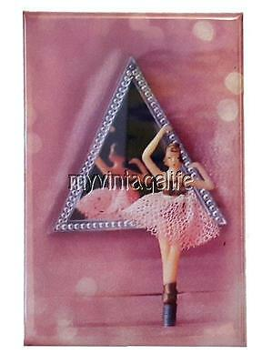 "JEWELRY BOX BALLERINA Fridge MAGNET  2"" x 3"" art NOSTALGIC VINTAGE"