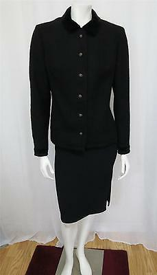 Bogner Rare 1960s-1970s Hand Tailored Black wool Jacket with Velvet accents M