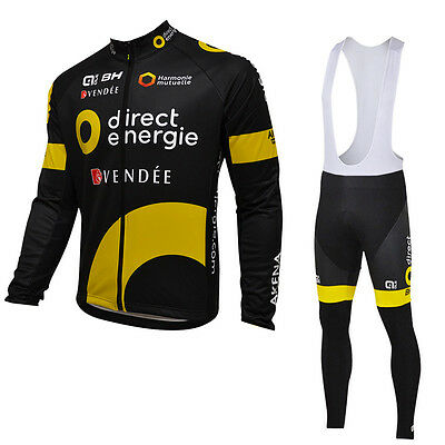 Ropa ciclismo entretiempo: Direct Energie tour 2016 maillot cycling otoño pants
