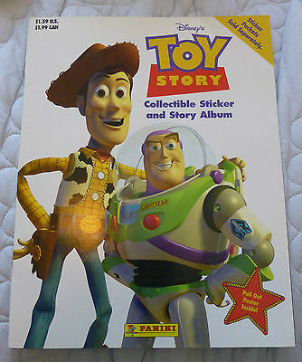 Toy Story Panini sticker album complete with all stickers!