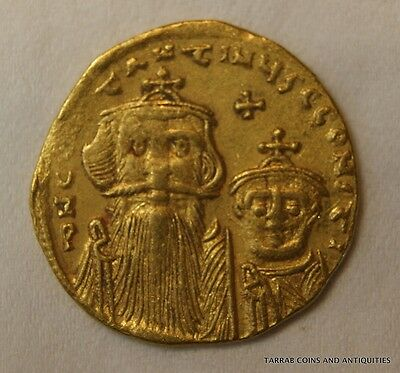 Ancient Byzantine Gold Coin Constans Ii 641-678 A.d. Nice Gold Coin! Scarce!