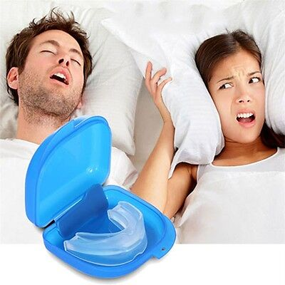 Mouth Guard Stop Teeth Grinding Anti Snoring Bruxism with Case Box Sleep Aid new