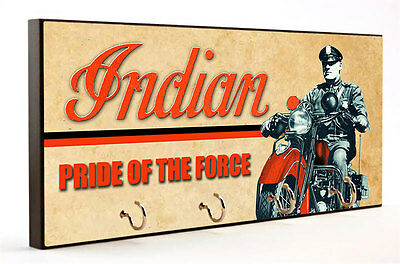 Indian Motorcycle Pride of the Force Key Hanger with Car Coaster