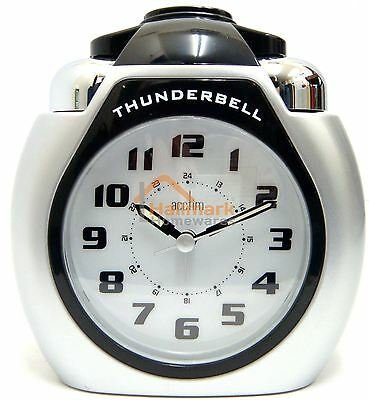Acctim Thunderbell Alarm Clock With Snooze Light & Extra Loud Ringer