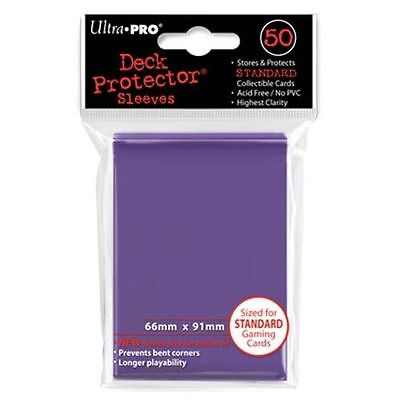 50 ULTRA PRO Deck Protector Card Sleeves Magic Pokemon Standard 82676 Purple