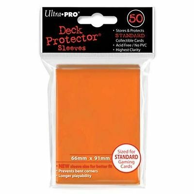 50 ULTRA PRO Deck Protector Card Sleeves Magic Pokemon Standard 82673 Orange
