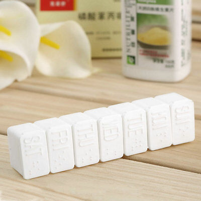 7 Day Tablet Pill Box Holder Weekly Medicine NEW  Organizer Container Case OG