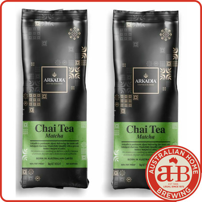 2x Arkadia Chai Tea Matcha powder 1KG Spice Chai cafe beverage tea latte