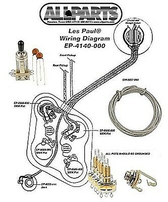 Wiring Kit for GIBSON® LES PAUL COMPLETE w/ Diagram CTS Pots Switchcraft Switch