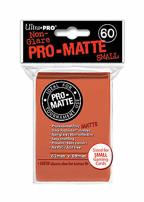60 Ultra Pro Pro-Matte Small Mini Deck Protector Card Game Sleeves 84154 Peach