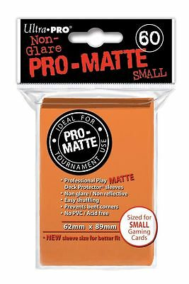60 Ultra Pro Pro-Matte Small Mini Deck Protector Card Game Sleeves 84266 Orange