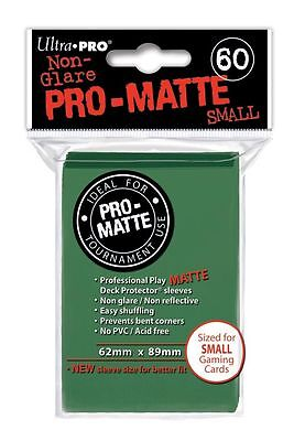 60 Ultra Pro Pro-Matte Small Mini Deck Protector Card Game Sleeves 84265 Green