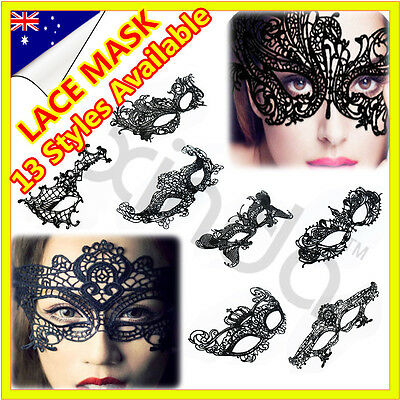 New AU Sexy Black Lace eye mask Ladies Masquerade Costume Party Fancy Dress