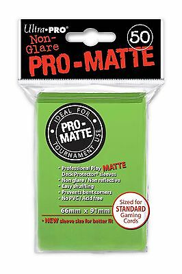 50 ULTRA PRO Pro-Matte Deck Protector Card Sleeves Standard 84190 Lime Green