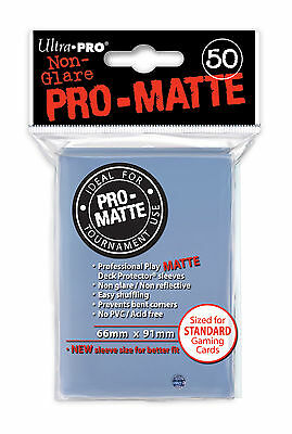 50 ULTRA PRO Pro-Matte Deck Protector Card Sleeves Magic Standard 84490 Clear