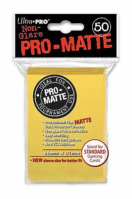 50 ULTRA PRO Pro-Matte Deck Protector Card Sleeves Magic Standard 84186 Yellow