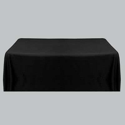 Satin Tablecloth Table Cloth Covers Black For Banquet Wedding Party Square Black