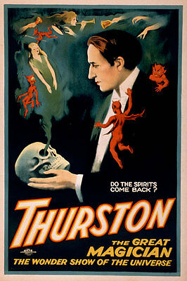 Thurston the Great Magician Vintage Magic Show Giclee Canvas Print 20x30