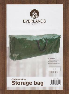 Everlands Green Zip Christmas Tree Storage Bag Fits Up To Most 210cm 7Ft Trees