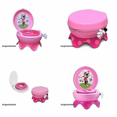Girls Potty Training Pee Toilet Baby Minnie Mouse Nontoxic Kids Toddler Trainer