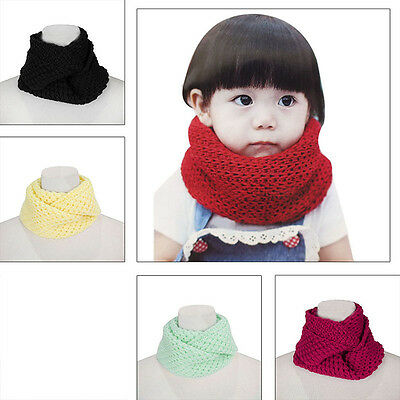 Baby Winter Knit Infinity Scarf Wool Cowl Neck Warmer Wrap Snood Scarf Shawl