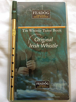 Feadog Original Irish Whistle - Learn to Play the Tin Whistle and Tutor Book