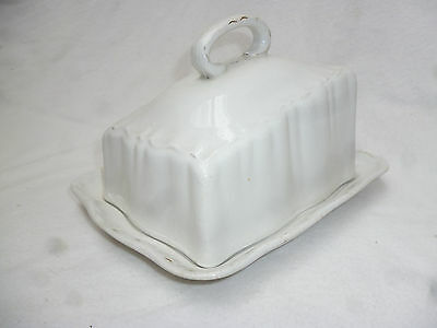 ANTIQUE VICTORIAN BUTTER or CHEESE DISH with COVER - good condition - 19cm long