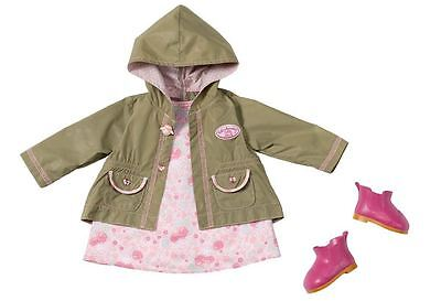 New Zapf Creation Baby Annabell Deluxe Let's Go Out Coat Outfit Clothes Set