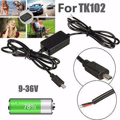 GPS Tracker Hard Wire Charger Kit Car Battery Adapter 9-36V For TK102 NANO