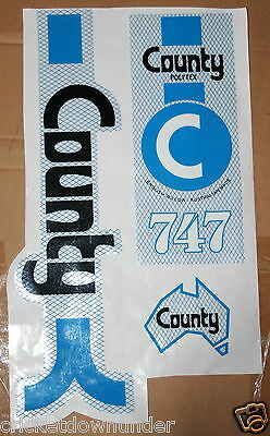 COUNTY 747 Cricket-Bat Stickers - TOP Quality!