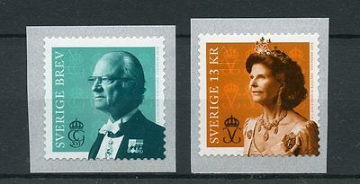 Sweden 2016 MNH King Carl Gustaf & Queen Silvia 2v S/A Set Coil Royalty Stamps