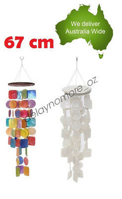 Long Capiz Shell Mobile Windchime Beautiful Christmas Gift Home Decoration 67CM