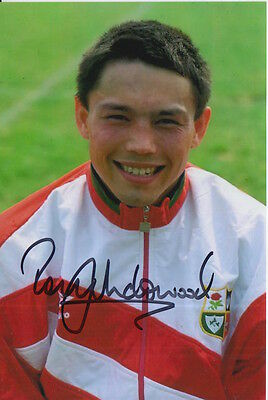 British And Irish Lions Hand Signed Rory Underwood 6X4 Photo Rugby Union.