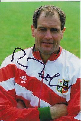 British And Irish Lions Hand Signed Paul Ackford 6X4 Photo Rugby Union.