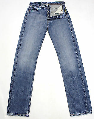 Vintage Levi's 501 Blue Ultimate Denim High Waisted Boyfriend Jeans W28 L35 L797