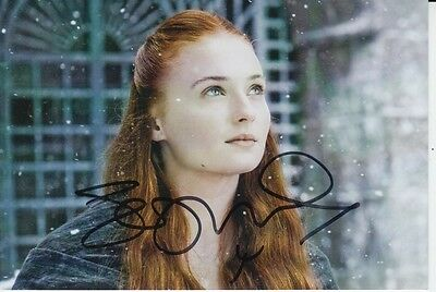 Sophie Turner Hand Signed 6X4 Photo Game Of Thrones 3.