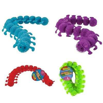 4 Colorful Crawlie Crawly Tactile Caterpillar Stretchy Fidget Toy Autism ADHD