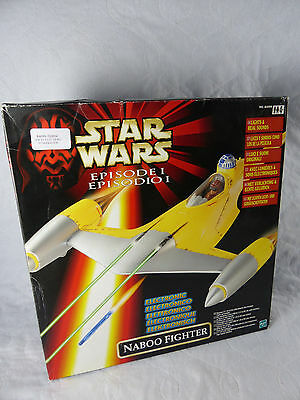 Star Wars Hasbro Episode 1 Electronic Naboo Fighter min in Box - NOS