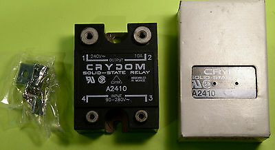 Crydom A2410 Solid-State Relay 240VAC 10A Output  90-280VAC Input New In Box