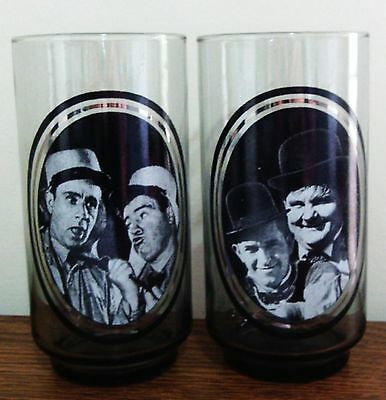 Pair of Vintage 1979 Arby's Actor Collector Series Glasses 2 and 3 of 6 With Abb