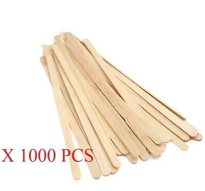 Wooden Stirrers, wooden sticks 12cm, Paddle Pop, Pkt of 1000 pcs