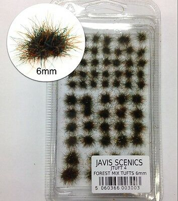 6mm Forest Mix Tufts - All gauge scenery - Javis JTUFT4 - free post