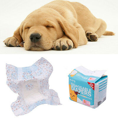 10pcs Cotton Convient Pet Disposable Dog Doggy Puppy Diaper Nappy paper New