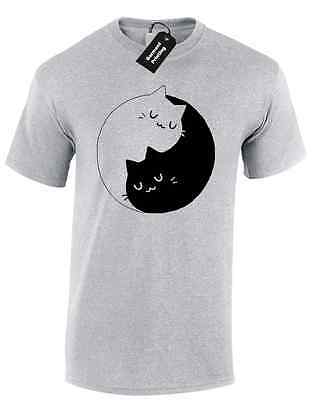 Kittens Ying Yang Mens T Shirt Crazy Cat Lady Cat Unicorn Tumblr Instagram Top