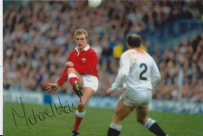 Wales Hand Signed Mike Hall 6X4 Photo Rugby Union 2.